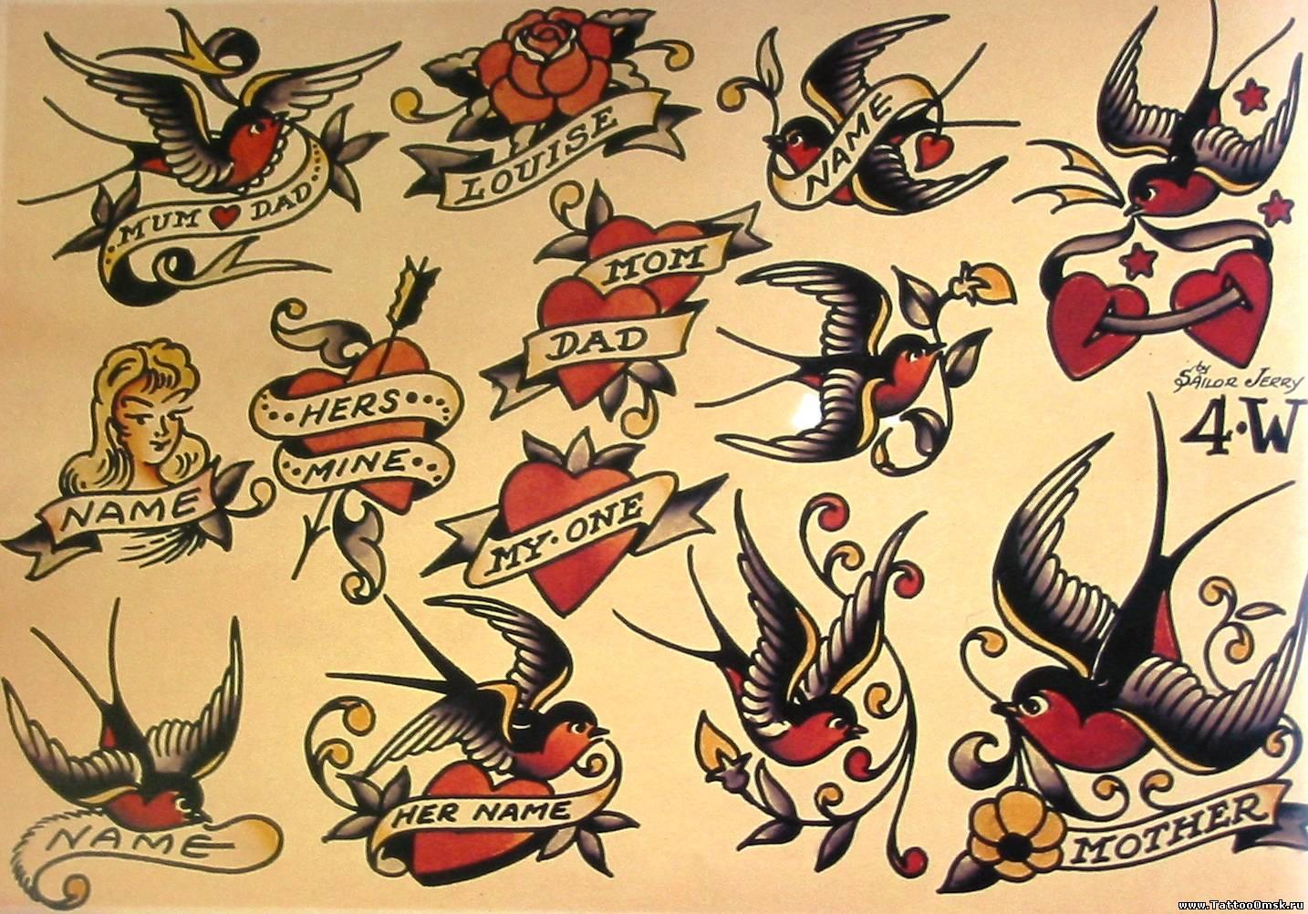 Sailor Jerry - Галерея - Татуировка в Омске, Сделать ... - photo#8