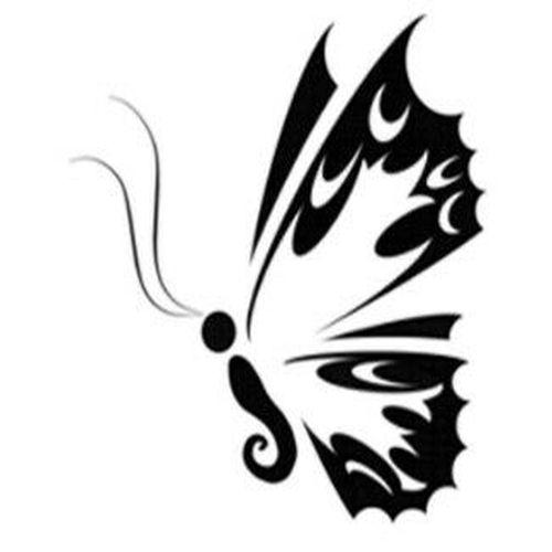 Бабочки тату фото черно белым