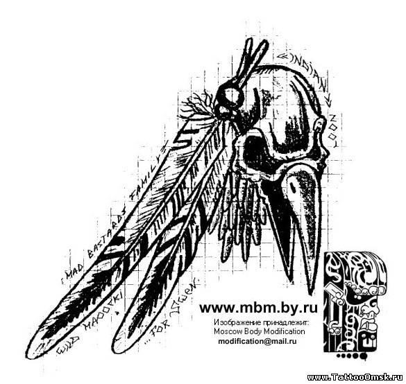 Татуировки летучих мышей.