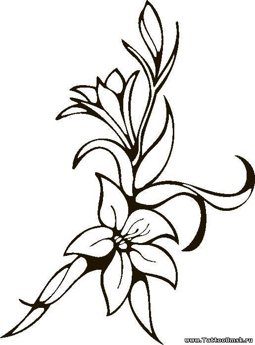 тату рисунки цветы